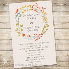 bohemian wedding invitations floral and birds boho wedding invitations iwi306 wedding