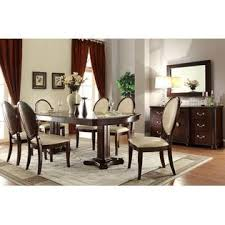 Elegant Dining Room Furniture Sets Acme United Formal Look Contemporary 7pcs Dining Set Cherry Finish