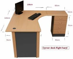 Computer Corner Desk by 1 4 M Office Corner Desk Right Hand With 4 Drawer Pedestal