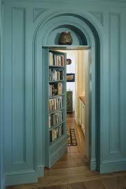 Floor Plans With Secret Passages Blue Painted Hidden Door Bookshelf Brown Laminate Wood Floor