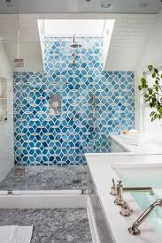 interior surf glass subway tile modern kitchen backsplash