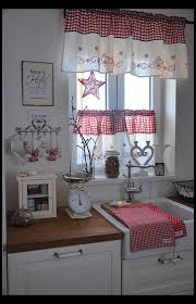 Red And White Curtains For Kitchen Best 25 Red Kitchen Curtains Ideas On Pinterest Yellow Kitchen