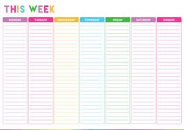 monthly do list template