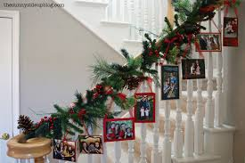 Decorating Banisters For Christmas Christmas Card Displays The Sunny Side Up Blog