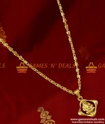 pendant necklace online images Smdr133 traditional vinayagar dollar pendant gold plated jpg