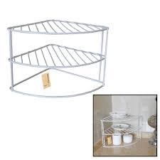 Shelf Organizer by Finether 3 Tier Corner Plate Rack Corner Shelf Organizer Corner