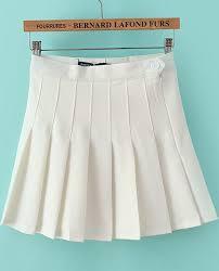 pleated skirt white high waist pleated skirt shein sheinside