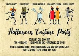 Halloween Costume Party Invitations 5 7 Halloween Costume Party Invitations