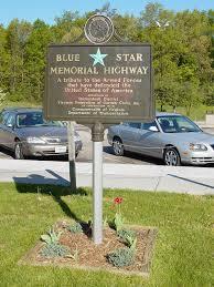 memorial markers blue memorial highway