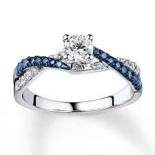 blue rings white images Kay blue white diamond ring 3 4 ct tw round cut 14k white gold jpg