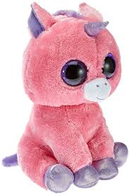 amazon ty beanie boos magic unicorn plush pink large toys