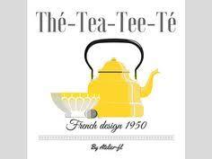 affiche cuisine vintage affiche décoration cuisine thème thé vintage ées par atelierfl