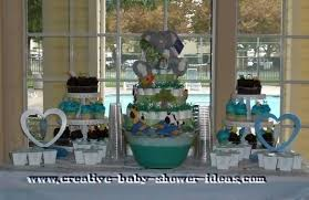 baby shower cake decorations at michaels jungle table centerpiece