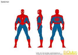 blueprints vector drawing spiderman