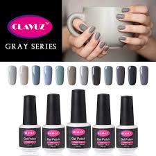amazon com clavuz gel nail polish 12pcs gray nail polish kit