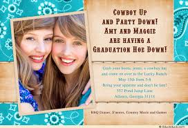 graduation open house invitation hoe invitation cowgirls photo open house party