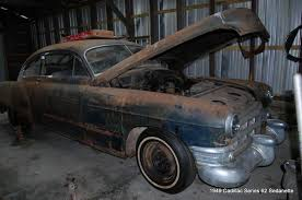 Barn Full Of Classic Cars 1949 Cadillac Series 62 Barn Find Project In Saint Simons Island