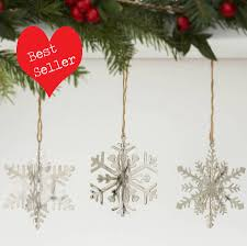snowflake decorations set of four 3d snowflake decorations by retreat home