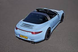 blue porsche 911 porsche exclusive builds a 911 targa 50th anniversary in stunning