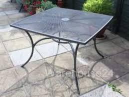 outdoor garden tables uk new grey steel metal mesh top square garden patio bistro table