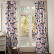 Coral And Navy Curtains Drapes And Curtains Coordinating Drape Panels Carousel Designs