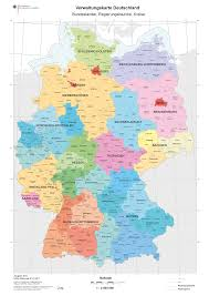 Physical Map Of Germany by Districts Of Germany 2011