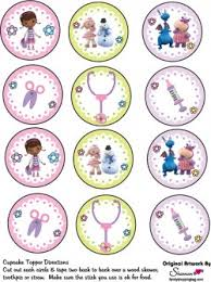 doc mcstuffin cake toppers cupcake toppers doc mcstuffins party decorations free