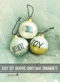 easy diy graphic ornaments