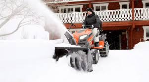 husqvarna tractors how to attach snow thrower youtube