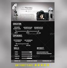 Sample Photographer Resume by Simple Photographer Resume Photographers Resume Cv And Cv Design