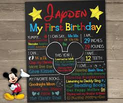 mickey mouse 1st birthday boy mickey mouse birthday chalkboard mickey mouse chalkboard