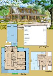 wrap around porch homes plan 70552mk rustic country home with wrap around porch