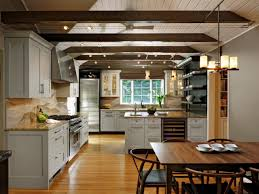 cozy 14 kitchen with ceiling beams on kitchen design ideas