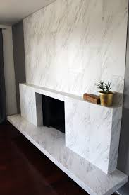 diy this modern marble fireplace for under 100 bucks lip stain