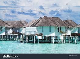 beautiful over water bungalows maldives stock photo 502722277