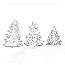 aliexpress com buy 3pcs set christmas tree cutting dies stencils
