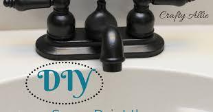 Spray Paint Bathroom Fixtures Crafty Diy Spray Paint Your Bathroom Faucet