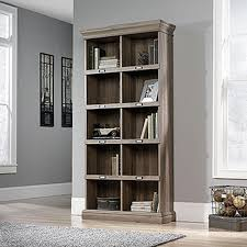Sauder Harbor Bookcase Sauder Barrister Salt Oak Open Bookcase 414108 The Home Depot
