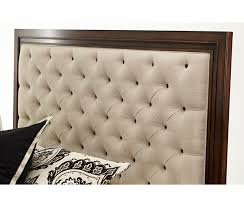 King Tufted Headboards by Aico Bella Cera Cal King Panel Bed W Fabric Tufted Headboard Los