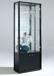 glass cabinet door glass display cabinet with storage black