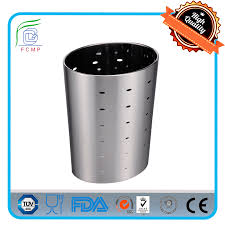 10 liter oval punching without cover weighted car trash can