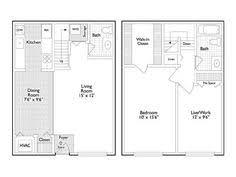2 Bedroom Apartments Ann Arbor 2 Bedroom 1 5 Bath Floor Plan Of Property Village Park Of Ann