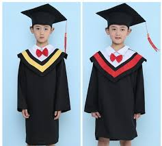 graduation gown 2017 kids primary school graduation gown with hat performance