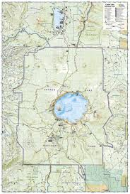 Olympic National Park Map Crater Lake National Park National Geographic Trails Illustrated