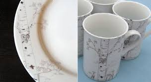 custom birch tree plate and mug set accessories better living