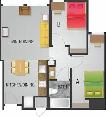 2 bedroom 1 bath floor plans floor plans of the enclave at 8700 in park md