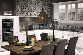 kitchen design wallpaper backsplash white and gray tiles add wallpaper backsplash white and gray tiles add pattern to the kitchen without disturbing the color scheme rustic wooden kitchen island seating barstool