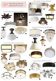 Flush To Ceiling Light Fixtures The 30 Best Flush Mount Lighting Fixtures It Lovely