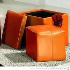 Leather Storage Ottoman Bench Leather Cube Ottoman With Storage Large Size Of Storage Ottoman
