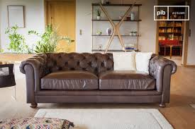 grand canapé canapé chesterfield un grand modèle 3 places pib